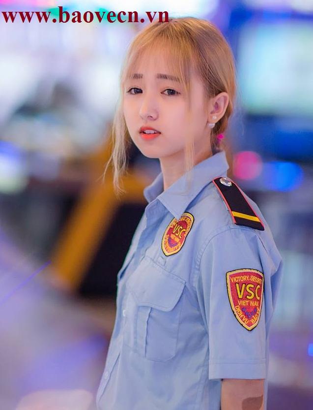 Nữ bảo vệ xinh đẹp của siêu thị