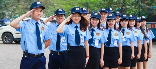 Nhận biết cấp bậc của nhân viên bảo vệ qua đồng phục